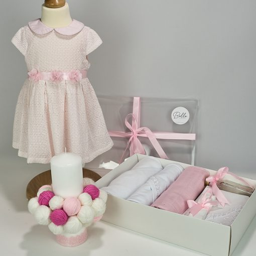 Trusou botez fetite complet Pink Clew