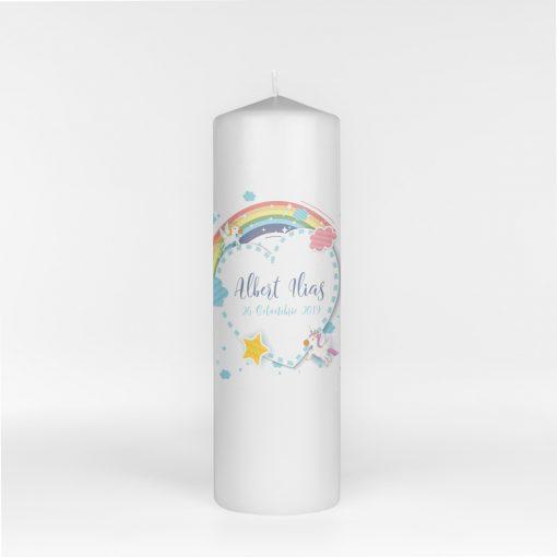 Lumanare de botez Baby Rainbow
