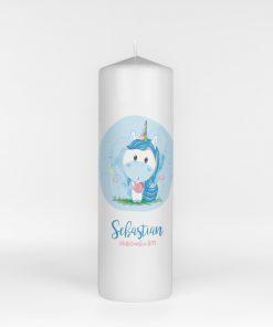 Lumanare de botez Blue Unicorn