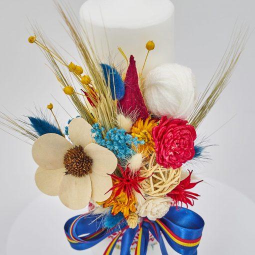 Lumanare-Botez-Traditionala-Flori-nemuritoare-2