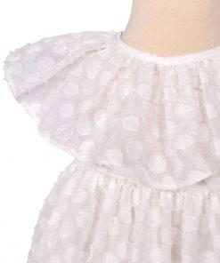 rochita de vara din voal cu buline