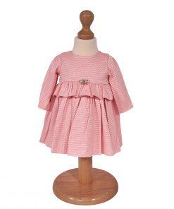 rochita roz cu fluturas si volanas