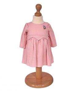 rochita roz cu brosa pisicuta