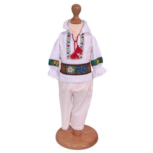 costum national baieti 6 piese cu bundita