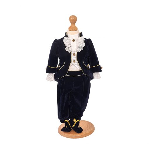 Costum botez prinț catifea
