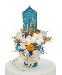 lumanare botez fagure bleu