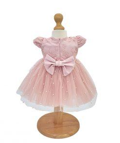 rochita botez roz din tulle cu perle