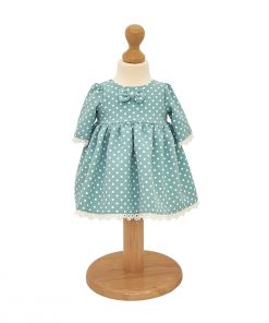 rochita botez verde cu buline